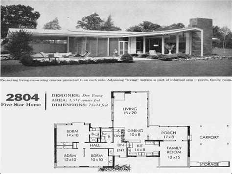 modern ranch floor plans mid century modern interiors mid century modern house floor plan california house plans