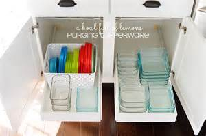 Best Way To Organize Kitchen Cabinets Purge Day 15 Tupperware A Bowl Full Of Lemons
