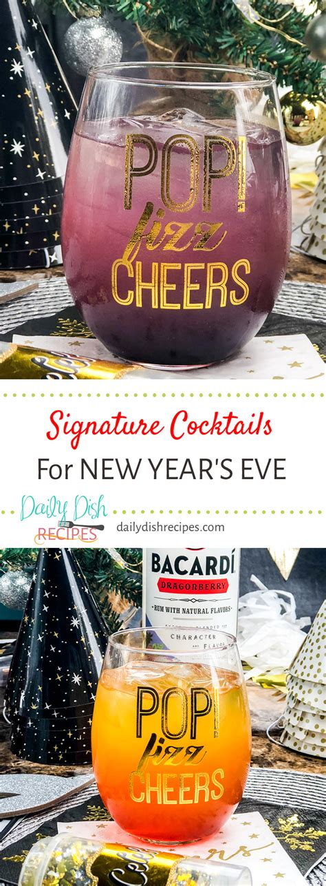 new year signature dishes two easy signature cocktails to celebrate new year s