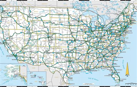 road trip maps of the usa 2016 united states road map