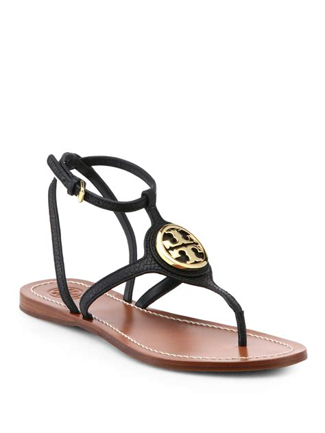 burch black sandal burch leticia leather sandals in black lyst