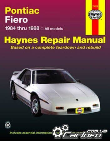 old car manuals online 1988 pontiac firefly electronic valve timing service manual 1988 pontiac firefly workshop manual free pontiac fiero 1984 1988 haynes