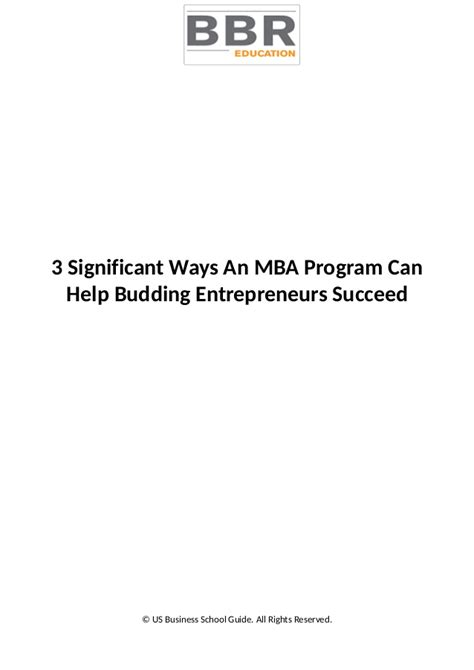 Does An Mba Help After School by 3 Significant Ways An Mba Program Can Help Budding