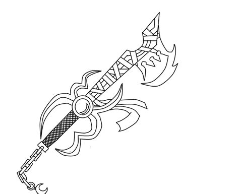keyblade coloring pages nero s new keyblade by darkneozero on deviantart
