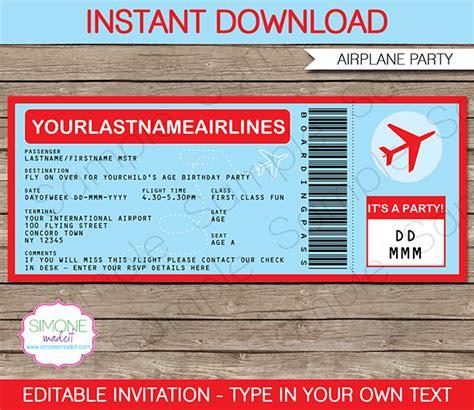 ticket invitation template airplane ticket invitations template ticket invitation