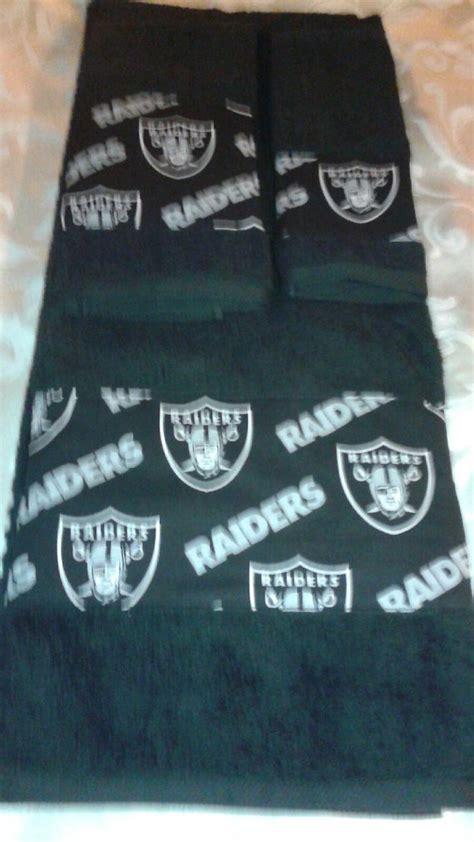 oakland raiders bathroom set oakland raiders bath towel set all teams by freemansalesgirl