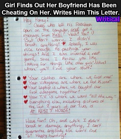 up letter cheater she writes an epic breakup letter to