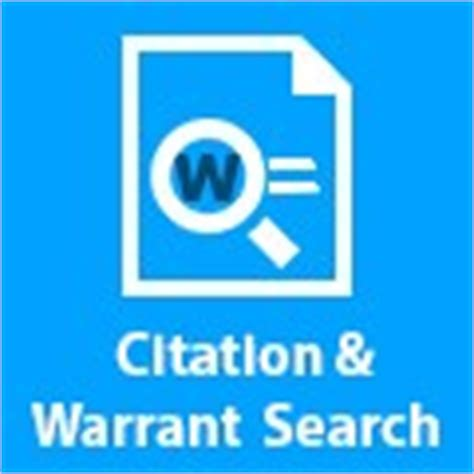 El Paso Department Warrant Search Forms