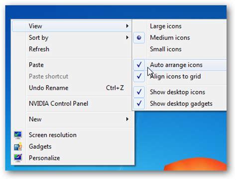 how to turn off auto arrange desktop icons in windows