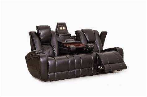 Reclining Sofa Loveseat And Chair Sets Seth Genuine Leather Power Reclining Sofa Set