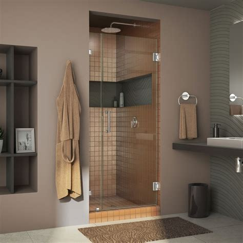 30 Inch Shower Door Dreamline Shdr 23307210 Unidoorlux 30 Inch Frameless Hinged Shower Door Shdr 23307210 01