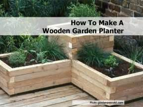 garden planters how to make a wooden garden planter