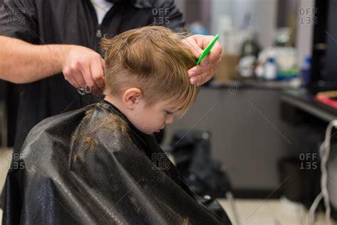 boys getting haircuts haircut stock photos offset