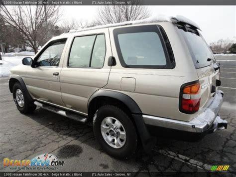 1998 beige metallic nissan pathfinder 1998 nissan pathfinder xe 4x4 beige metallic blond photo