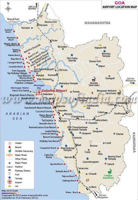 mapusa goa map goa map with location of airports beaches hotels and