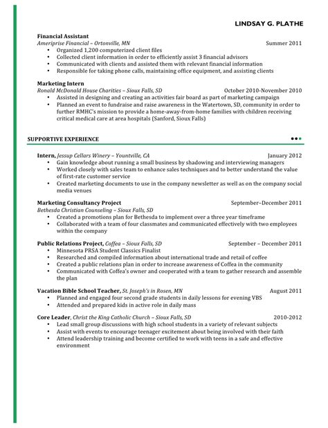 Massage Therapist Sample Resume by Lindsay S Portfolio