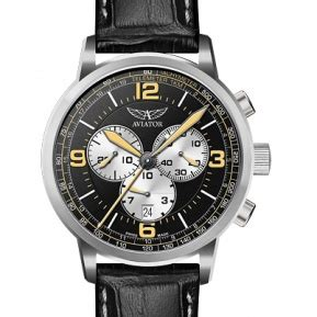 Mianan King Cobra Black Silver aviation time mechanical pilot watches from