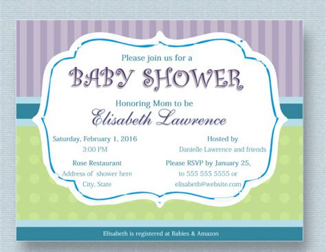 baby shower invitation card template free 34 baby shower invitation templates psd vector eps ai