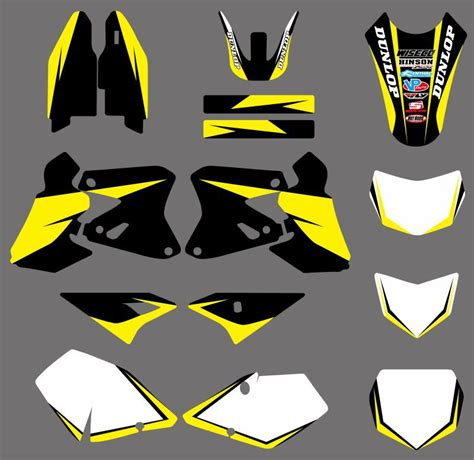 Suzuki Drz Stickers Aliexpress Buy 0359 Yellow White New Style Team