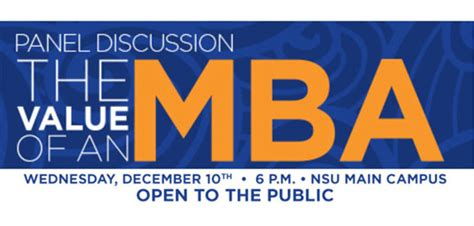 Nsu Mba Program by Southeastern Hosts Expert Panel Discussion