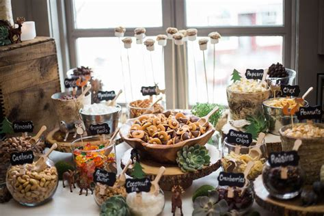 Woodland Themed Baby Shower Food by Woodsy Boho Baby Shower Baby Shower Ideas Themes
