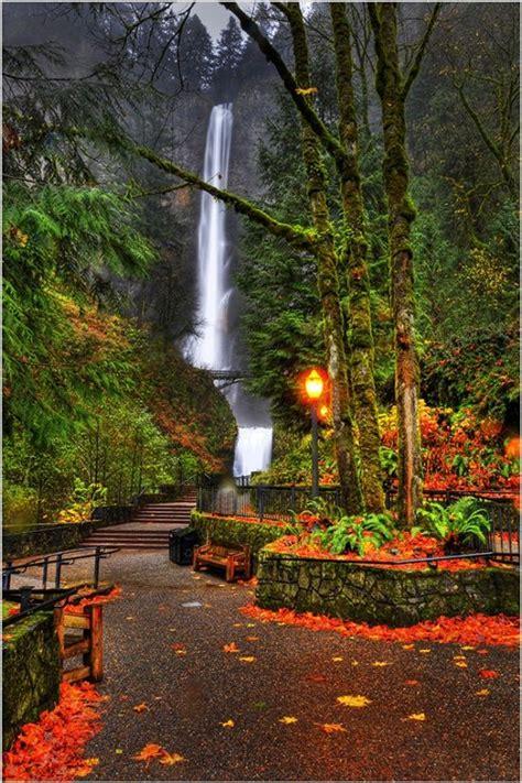multnomah falls oregon favorite places spaces