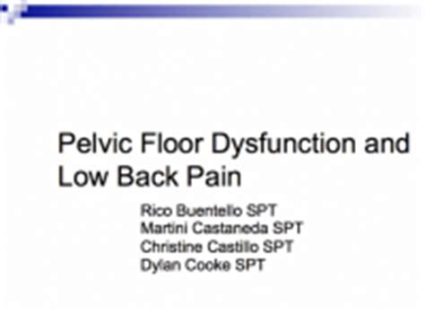 Pelvic Floor Disfunction by Low Back And Pelvic Floor Disorders Physiopedia