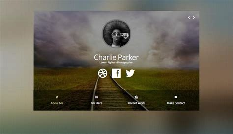 profile card template profile joomla one page personal business card template