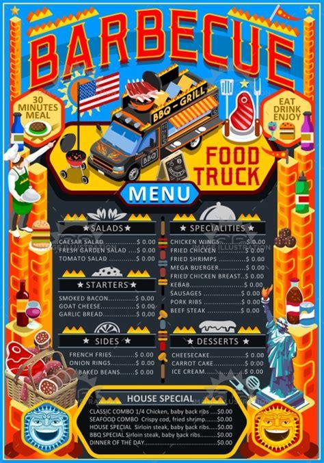 coq a doodle do food truck menu food truck menu food grill bbq festival vector