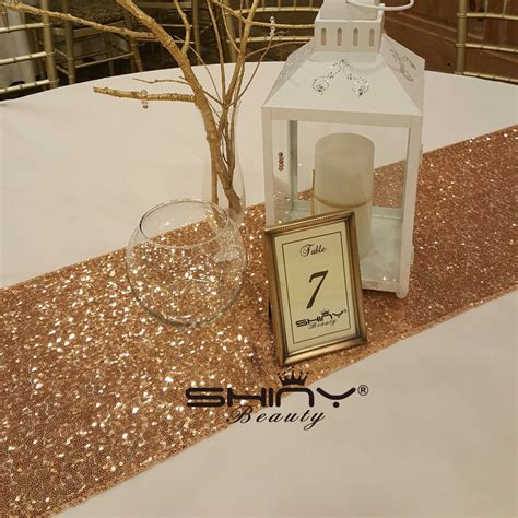 gold sequin table runner wholesale rose gold sequin table runner 12 quot x 108 quot sequin tablecloth