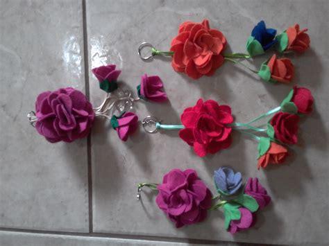chaveiro de flor de feltro rosemary a orefice elo7