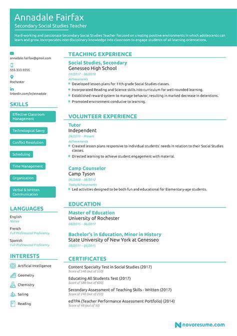 preschool teacher resume sample page 1 teacher curriculum and