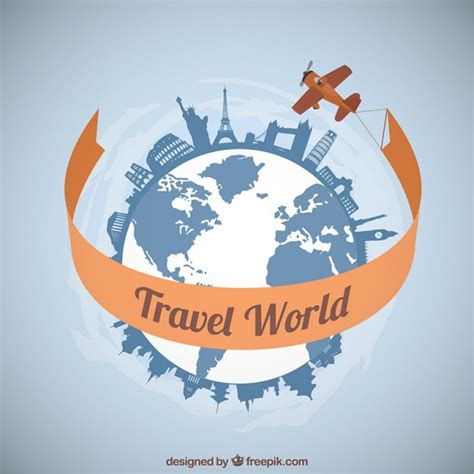 Traveling Around The World plane traveling around the world vector free