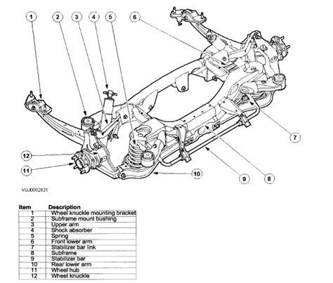 Jaguar Xj6 Front Suspension Diagram 2002 Jaguar Xtype Bolts In Front Of Lower Arm
