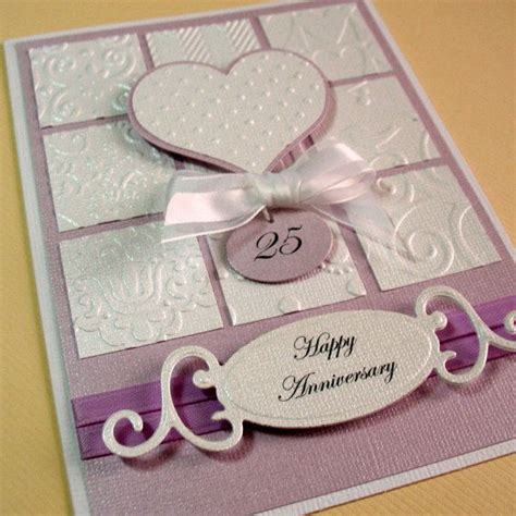 Handmade Greetings For Anniversary - anniversary card milestone anniversary card wedding