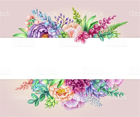 watercolor illustration floral background wild flowers