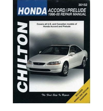 hayes auto repair manual 2000 honda prelude parking system honda accord prelude 1996 00 download