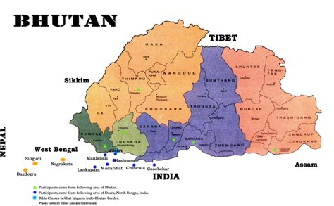 where is bhutan on a world map maps of bhutan map library maps of the world