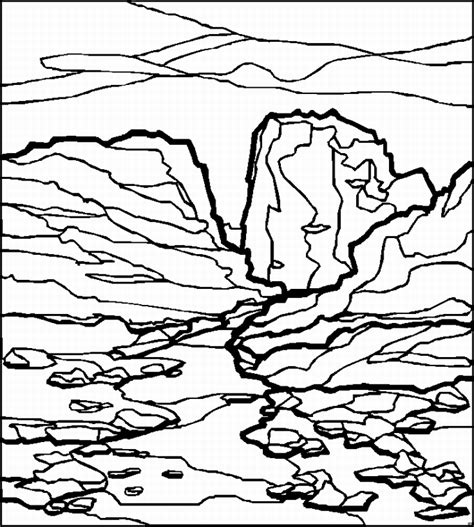 Coloring Page Landscape by Free Coloring Pages Of Landscapes For Children