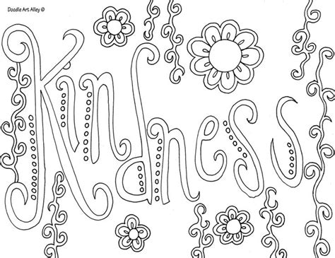 Coloring Page Kindness Sunday School Ideas Coloring Pages Words
