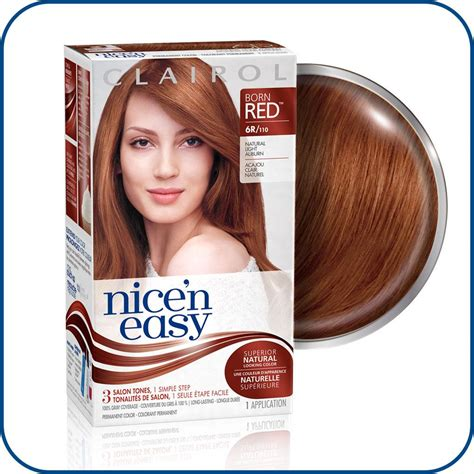 clairol nice n easy hair color 110 natural light auburn amazon com clairol nice n easy hair color 110 natural