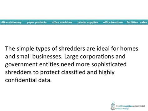 types of paper shredders paper shredder types