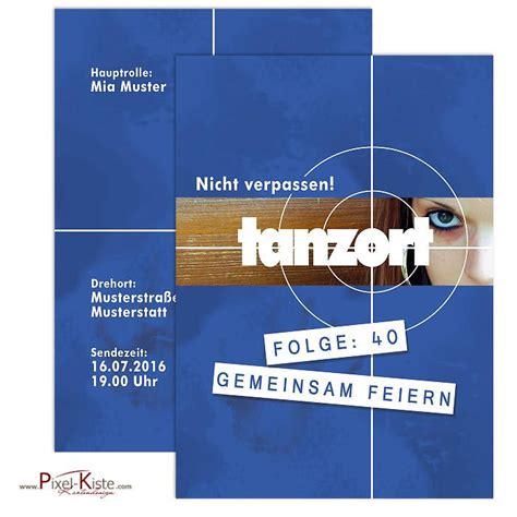 Individuelle Postkarten Drucken by Einladung Zum Geburtstag Mit Tatort Zielscheibe Quot Tanzort