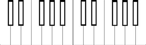 coloring page piano keys 2 octave piano keys clip art at clker com vector clip