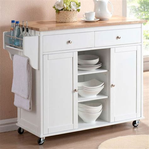 Meryland White Modern Kitchen Island Cart 10 small kitchen islands for your tiny kitchen freshome