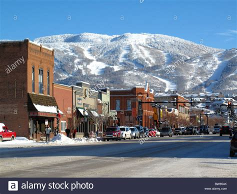 steamboat usa winter blick auf steamboat springs colorado usa