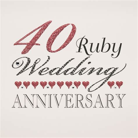 Ruby Anniversary Wedding by Ruby Wedding Ruby Anniversary Card Models Picture