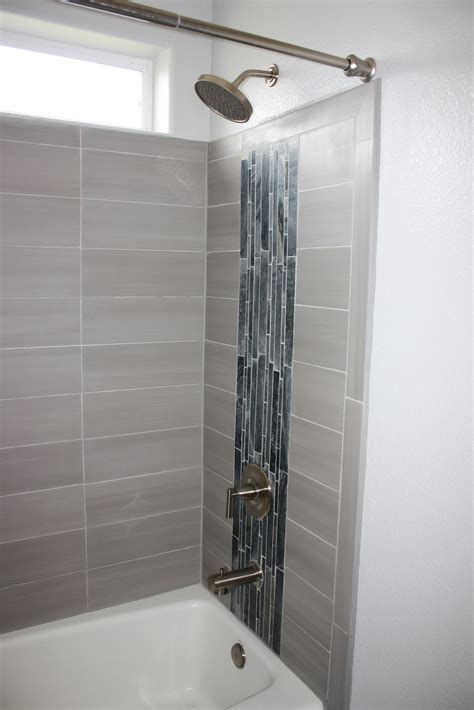 Gray Porcelain Tile Bathroom by Be Slightly Askew Completed Bathroom