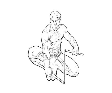 daredevil coloring page az coloring pages