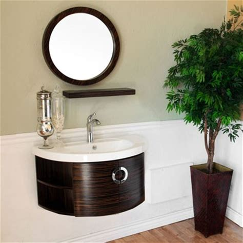 34 Inch Bathroom Vanity Islander Single 34 Inch Contemporary Bath Vanity With Mirror Option